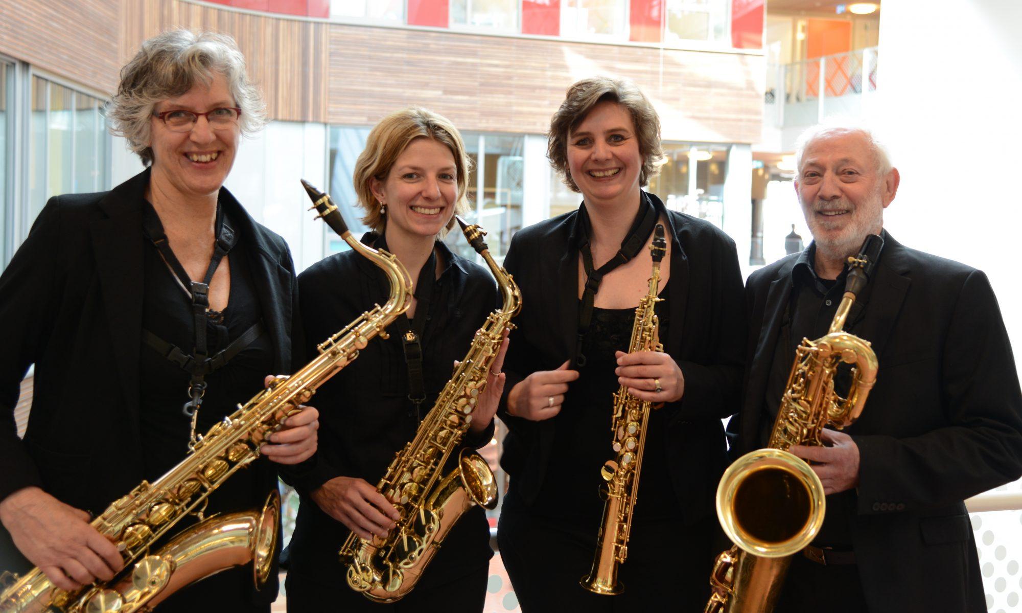Saxofoonkwartet Met Maten
