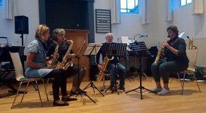 inspirerende en gezellige dag met (oud-)leerlingen en kwartetten van Willem van Merwijk